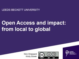Open Access and impact: from local to global