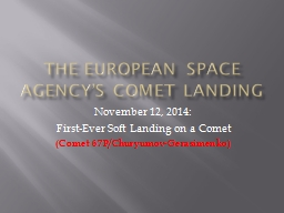 The European Space PowerPoint PPT Presentation