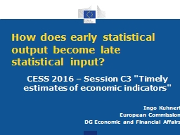 How does early statistical output become late statistical i