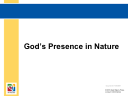God's Presence in Nature PowerPoint PPT Presentation