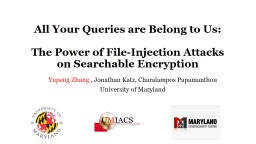 All Your Queries are Belong to Us: PowerPoint PPT Presentation
