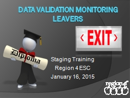 Data Validation Monitoring