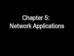 Chapter 5: Network Applications PowerPoint PPT Presentation