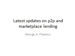 Latest updates on p2p and marketplace lending