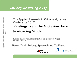 Applied Research in Crime and Justice Conference 2017