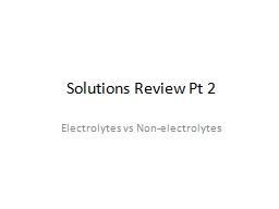 Solutions Review Pt 2