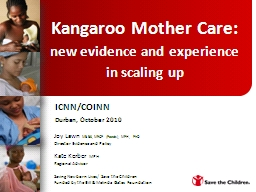 Kangaroo Mother Care: