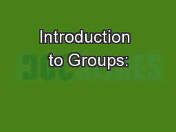 Introduction to Groups:
