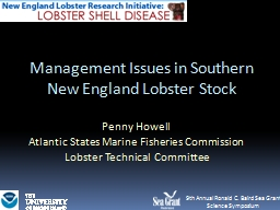 Management Issues in Southern New England Lobster Stock