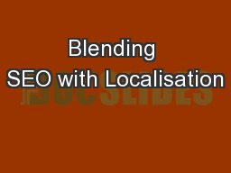 Blending SEO with Localisation