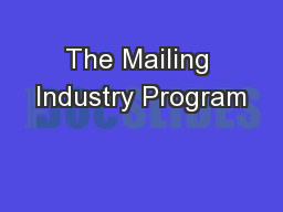 The Mailing Industry Program