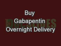 Buy Gabapentin Overnight Delivery
