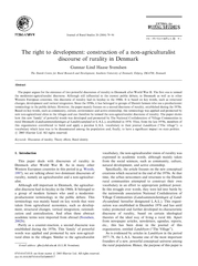 Journal of Rural Studies    The right to development c