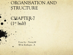 ORGANISATION AND STRUCTURE PowerPoint PPT Presentation