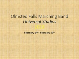 Olmsted Falls Marching Band