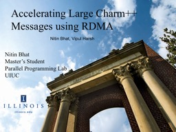 Accelerating Large Charm++ Messages using RDMA