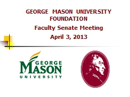 GEORGE MASON UNIVERSITY FOUNDATION