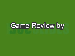 Game Review by