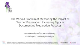 The Wicked Problem of Measuring the Impact of Teacher Prepa