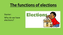 The functions of elections