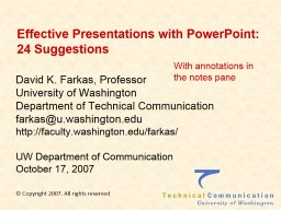 Effective Presentations with PowerPoint: