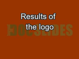 Results of the logo