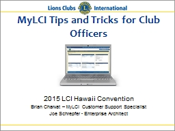 MyLCI Tips and Tricks for Club Officers