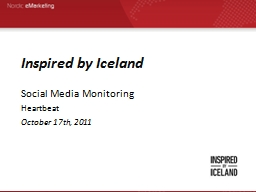 Inspired by Iceland PowerPoint PPT Presentation