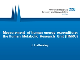 Measurement of human energy expenditure: