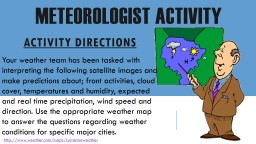 Meteorologist Activity PowerPoint PPT Presentation