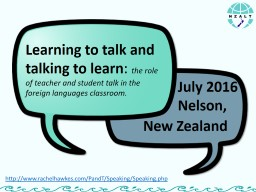 Learning to talk and talking to learn