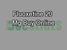 Fluoxetine 20 Mg Buy Online