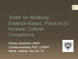 Toolkit for Modifying Evidence-Based Practices to Increase
