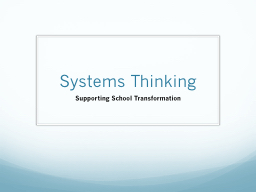 Systems Thinking PowerPoint PPT Presentation