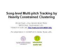Song-level Multi-pitch Tracking by Heavily Constrained Clus