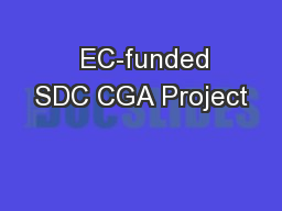 EC-funded SDC CGA Project