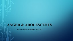 Anger & Adolescents