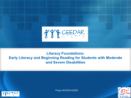 Literacy Foundations: