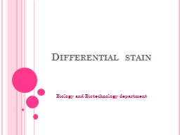 Differential stain