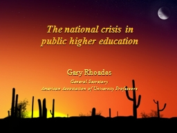 The national crisis in PowerPoint PPT Presentation