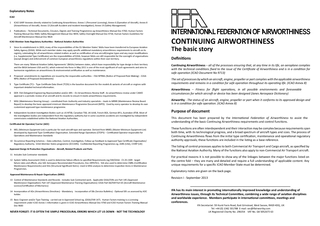 International federation of air worthiness continuing air worthiness