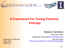 A Framework For Tuning Posterior