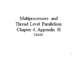 1 Multiprocessors and