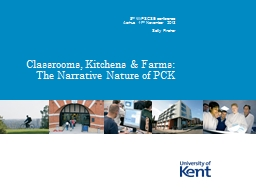 Classrooms, Kitchens & Farms: