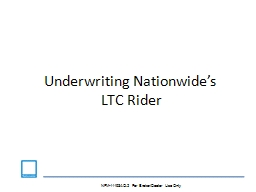 Underwriting Nationwide's PowerPoint PPT Presentation