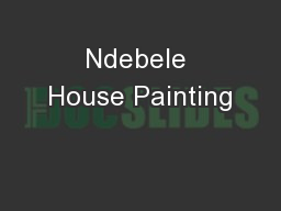 Ndebele House Painting