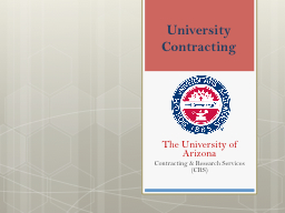 University Contracting PowerPoint PPT Presentation