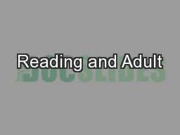 Reading and Adult