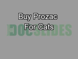 Buy Prozac For Cats