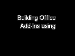 Building Office Add-ins using